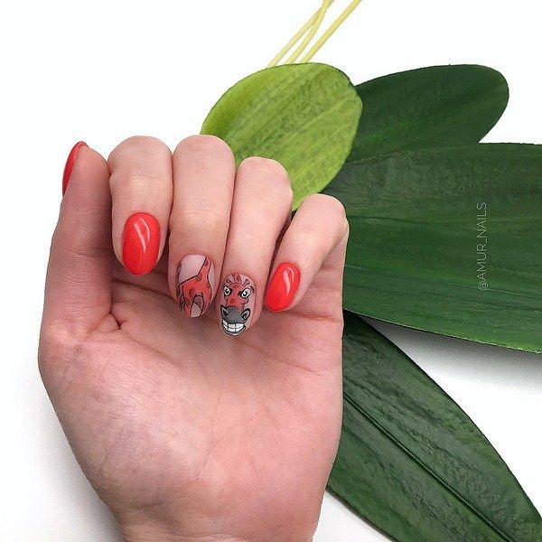 letnie foto idei manikyura 2019 2020: novinki letnego dizajjna nogtejj, tendencii i trendy71 Літні фото ідеї манікюру 2019 2020: новинки літнього дизайну нігтів, тенденції і тренди